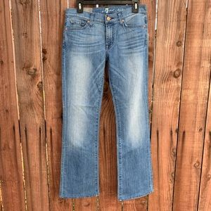 7 For All Mankind Bootcut Denim Jeans 28 Women New